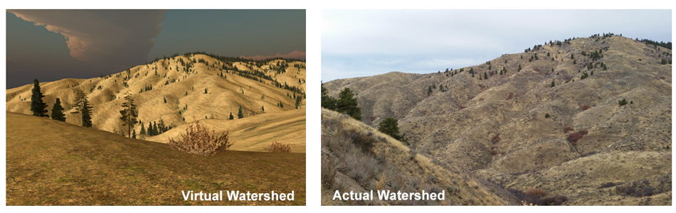 virtual vs actual watershed